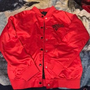 Jackets & Blazers - Red silk In This Moment button up jacket